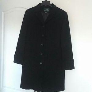 RALPH LAUREN - soft lambswool knee length coat